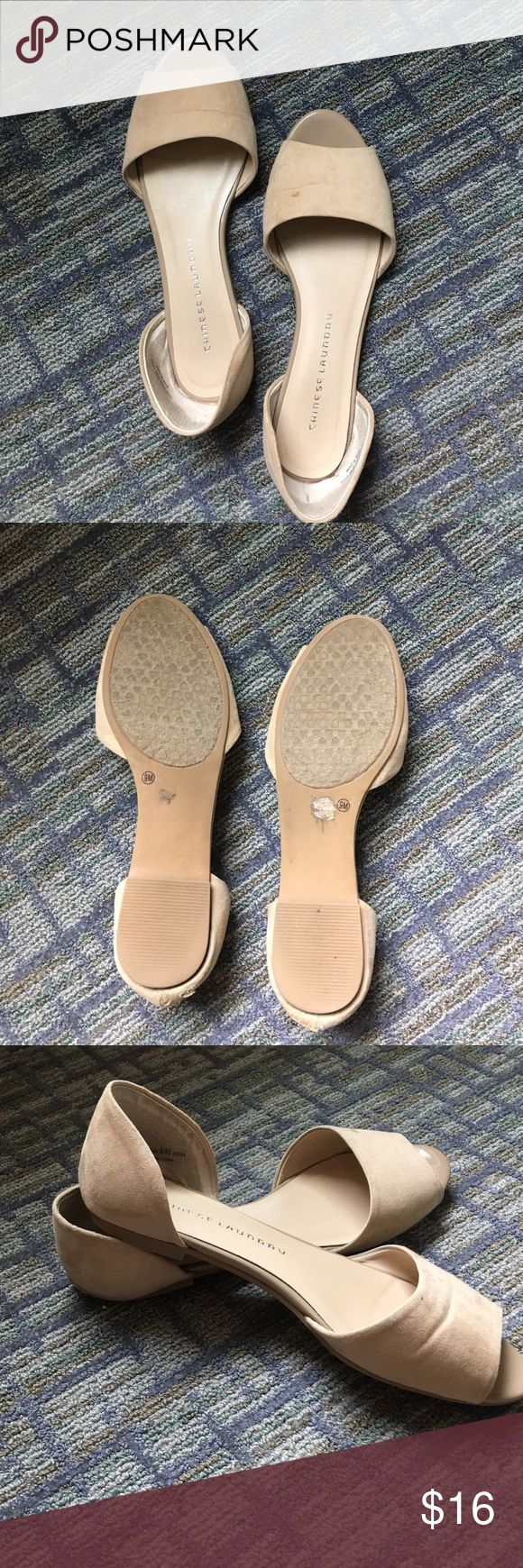 Chinese Laundry d'orsay open toe flat Chinese Laundry d'orsay open toe flat, size 9 Chinese Laundry Shoes Flats & Loafers
