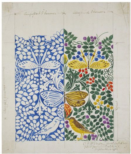 Textile design   Charles Francis Annesley Voysey   V&A Search the Collections