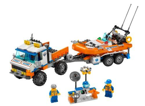 Amazon.com: LEGO City Coast Guard Truck with Speed Boat: Toys & Games