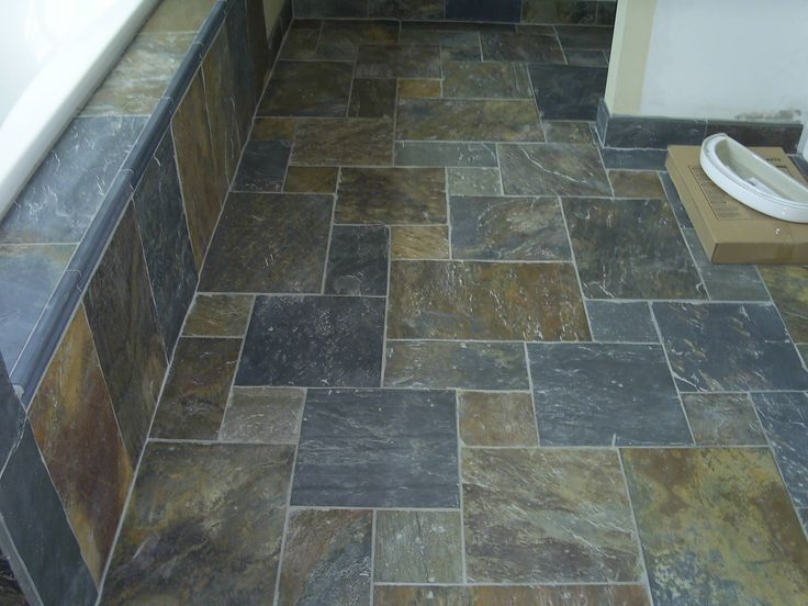 Slate Tile Bathrooms Affordable Seattle Slate Tile Bathroom With Asian Sinks And Flooring Wall