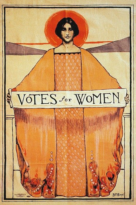 Suffrage poster from 1911 by B.M. Boye