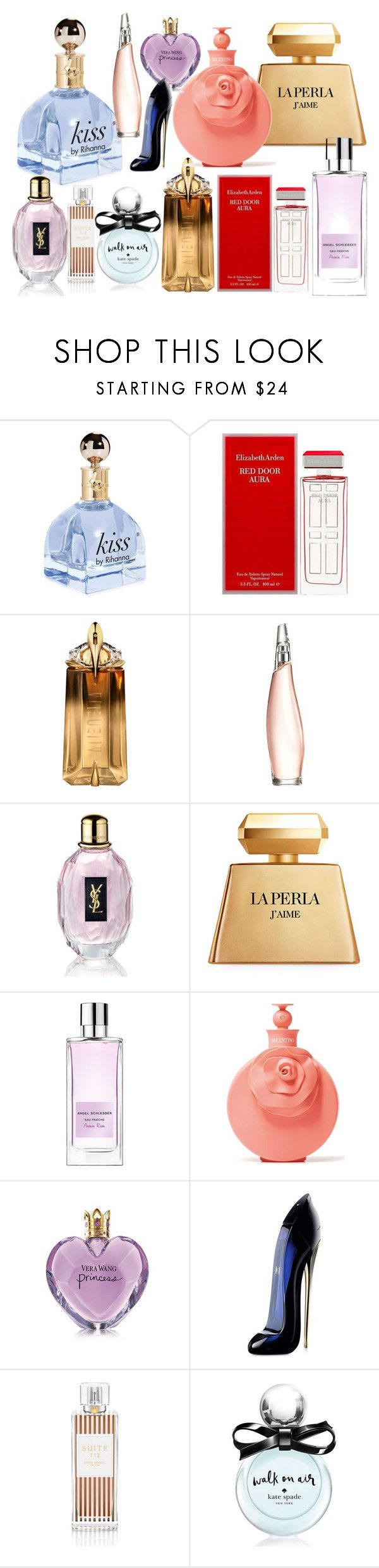 """Perfumes Fan #12"" by deykav1968 ❤ liked on Polyvore featuring beauty, Elizabeth Arden, Thierry Mugler, Donna Karan, Yves Saint Laurent, La Perla, Angel Schlesser, Valentino, Vera Wang and Carolina Herrera"