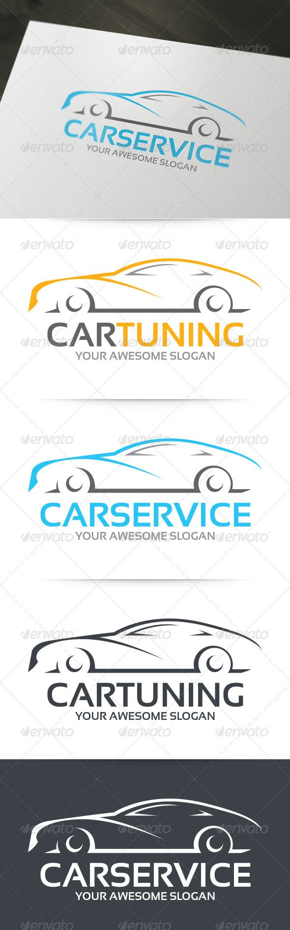 Car Tuning Logo — Photoshop PSD #tune #carwash • Available here → https://graphicriver.net/item/car-tuning-logo/6217421?ref=pxcr