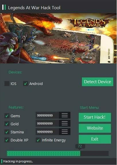 Legends at War Hack Tool No Survey Free (Android   iOS)