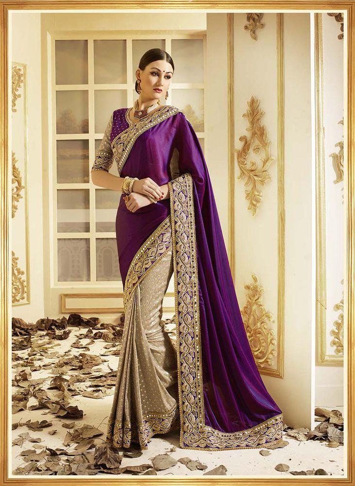 Designer Party Wear Sari Bollywood Wedding Saree Bridal Indian Pakistani Sari