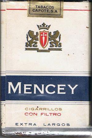 Carteles antiguos de publicidad- Cigarrillos Mencey