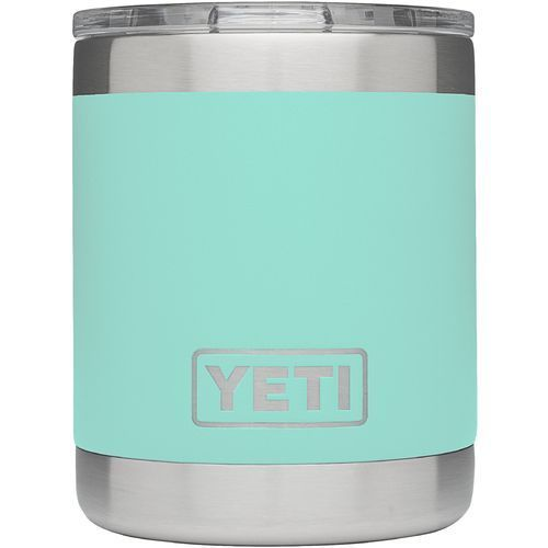 Yeti Rambler 10 oz Lowball Silver/Turquoise or Aqua - Thermos Cups And Koozies at Academy Sports