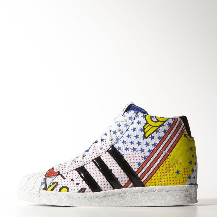 A design collaboration with British pop sensation Rita Ora, these adidas  Originals Superstar shoes step
