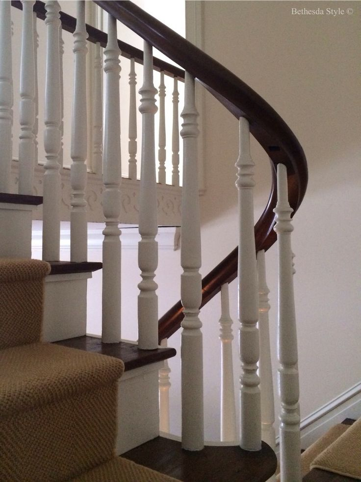 Bethesda Style ~ Farmhouse ~ Stairs ~ Spindles