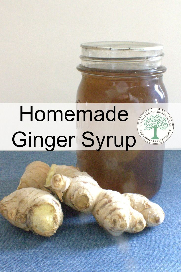 Make a batch of this ginger syrup and can it up for long term storage. Have it on hand for homemade ginger ale, upset tummies and more! The Homesteading Hippy via @homesteadhippy