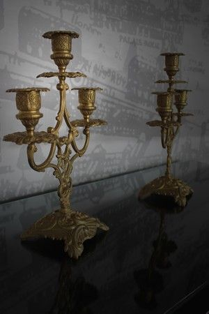 French Candle Holders in Bronze