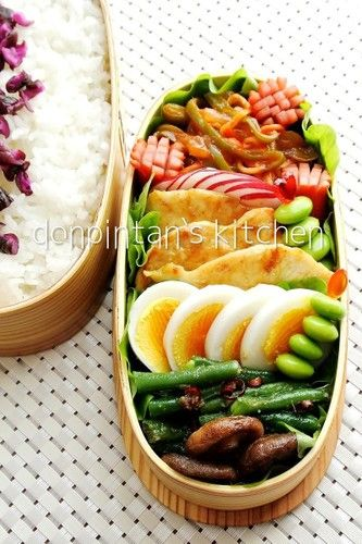 Yum veggies and egg bento