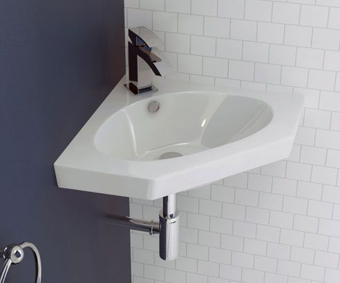 Cubitt Designer Corner Wall Hung Basin Intelligent design makes this  compact corner basin is perfect for cloakrooms and small bathrooms. Best 25  Corner basin ideas on Pinterest   Bathroom corner basins