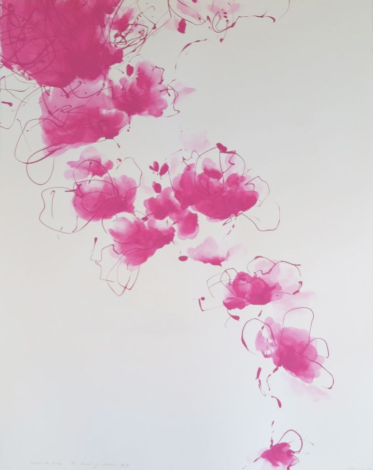 """Aphrodite Pink - 'Secrets of Summer' #3, by Tasmanian artist Corinne Costello, 2015. """"Finding inspiration in the mythological stories of metamorphosis my work traverses between figuration and abstraction. The painting constantly changes between form and formless, between the familiar and unfamiliar. I strive for a painting that has a sense of the mysterious, organically hovering and dissolving over the surface of the canvas."""""""