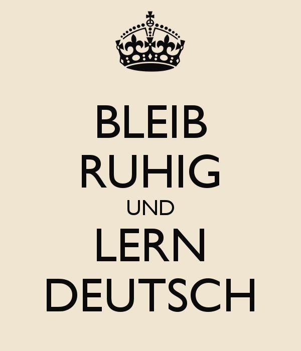 'BLEIB RUHIG UND LERN DEUTSCH' Poster