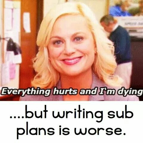 That's why it sucks to be a sub...I've taught full time too, I always wrote detailed sub plans.