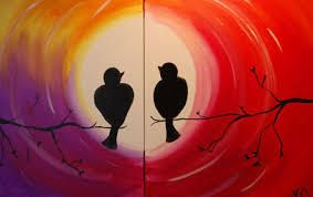 Image of Couples Painting Kit (Love Birds)