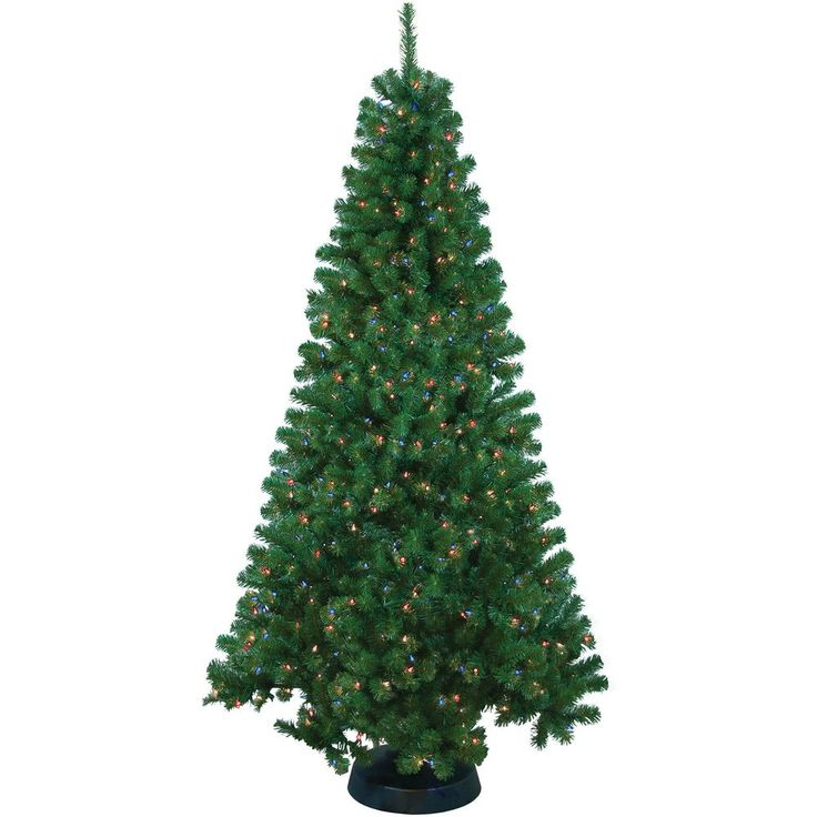 Pre-Lit 7' Artificial Christmas Tree Xmas Trees With Lights Holiday Decoration  #PreLit7ArtificialChristmasTree