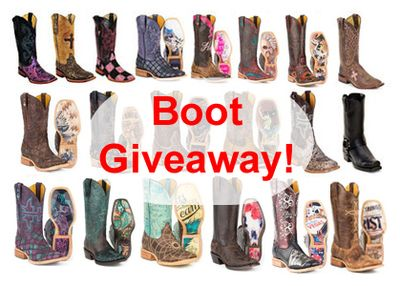 Win your choice of any boot we sell. Ends Jan 31, 2017. You may enter once each day. (up to $325 in value) We Love our Fans!
