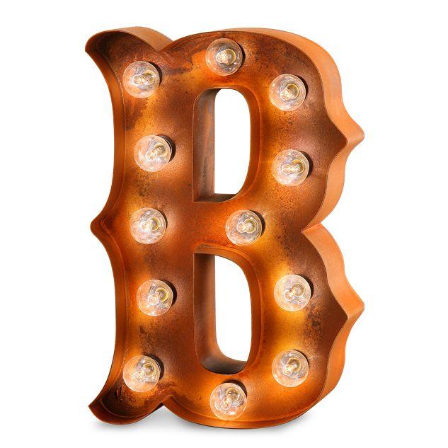 Letra decorativa con bombillas efecto industrial. #letradecorativaconbombillas #letrasconluz