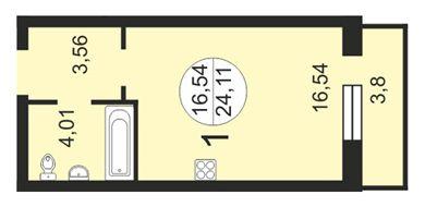 планировки студий 21-30 кв метров