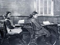 | Image of a early 20th century classroom