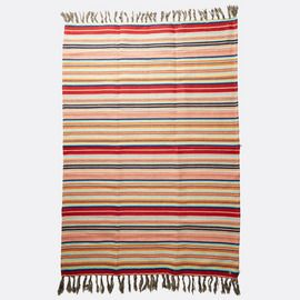 From bronzing session to beach bonfire nights, the Lakeside blanket is your go-to. This striped jute blanket is trimmed with tassels at the edges and me...