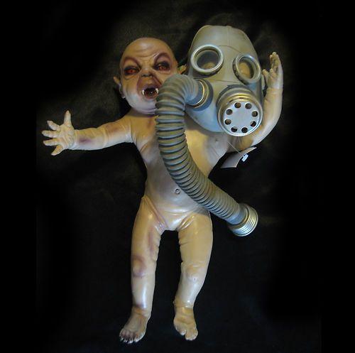 $24.95 Two Headed Baby Freak Human Oddity Lifesize Scary Halloween Haunted House Prop