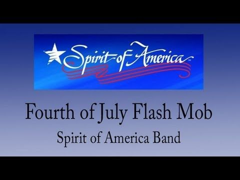 """At 5pm on July 1st, 2011 in Orleans, Cape Cod, MA, Shoppers stocking up for the 4th of July got a surprise shot of patriotism to start their weekend! Spirit of America Band members (disguised as shoppers and stockers) broke into an """"impromptu"""" performance of Sousa's """"Stars and Stripes"""""""