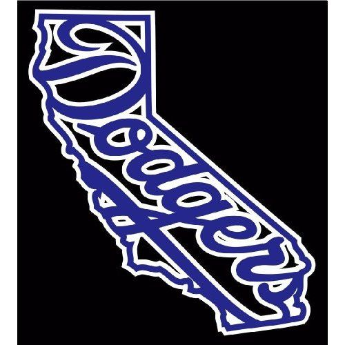 Los Angeles LA Dodgers California Sports Vinyl Decal