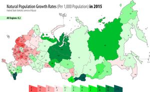 Natural population growth rate in Russia, 2015. Russia - Wikipedia