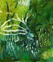 Danmark. Per Kirkeby Grün Frühling, malet 1988; Louisiana. Per Kirkeby har i sine malerier rendyrket en ekspressiv abstrakt udtryksform. Indtryk fra landskaber, fra andre kunstværker eller fra massemediernes billeder manifesterer sig ofte som rum af ubestemmelig karakter, der opstår ved den lagvise påføring af penselstrøg og farveflader.