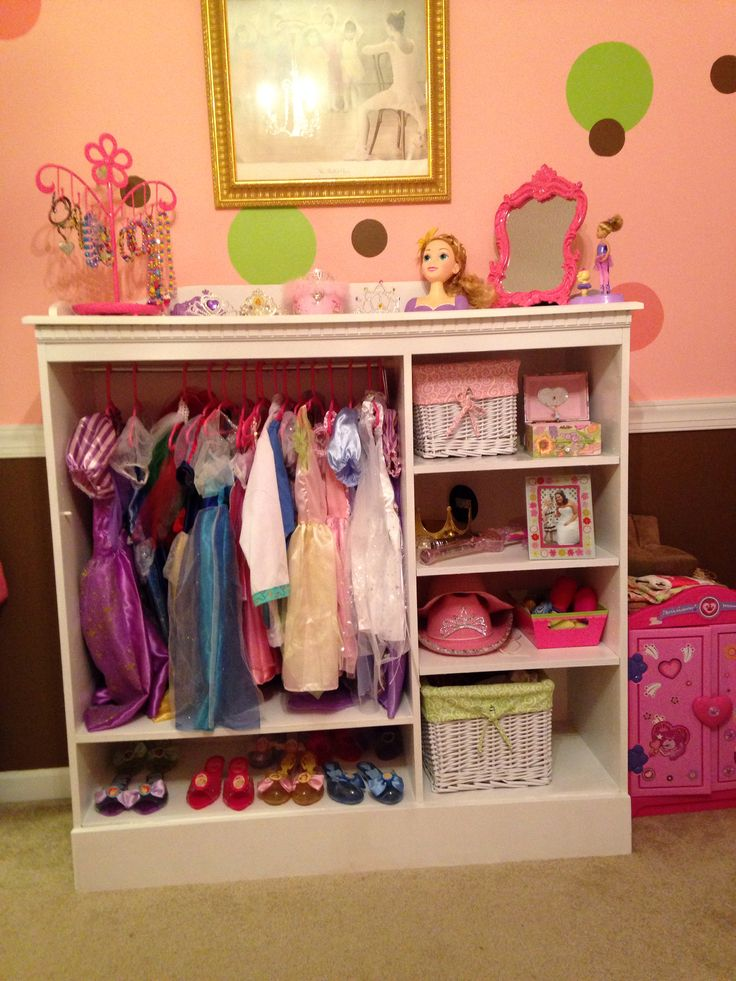 Blue Storage Kids Toy Box Playroom Furniture Bedroom Girls: Dress Up Closet For Abby