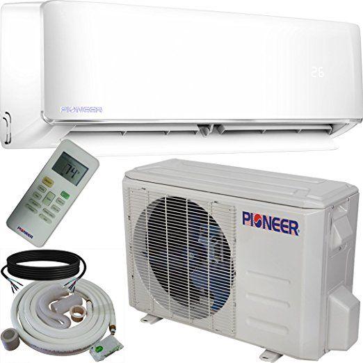 Pioneer WYS012-17 Air Conditioner Inverter+ Ductless Wall Mount Mini Split System Air Conditioner & Heat Pump Full Set, 12000 BTU 115V