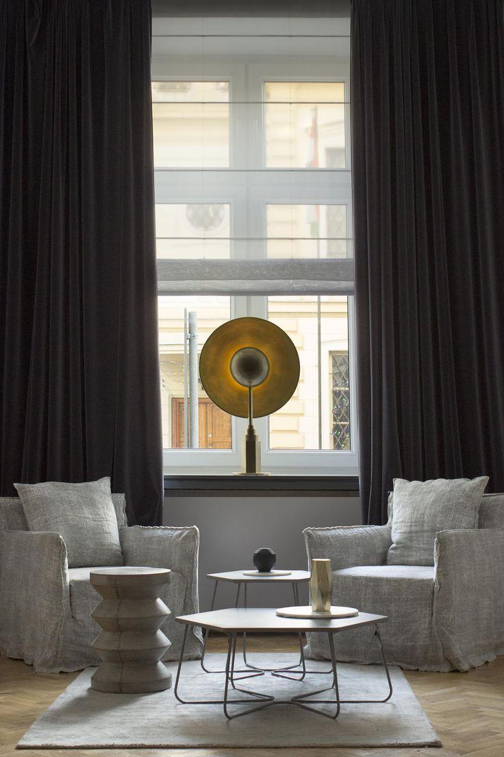 Metropolis table lamp by Jan Garncarek