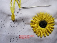 Double cast-on sunflower