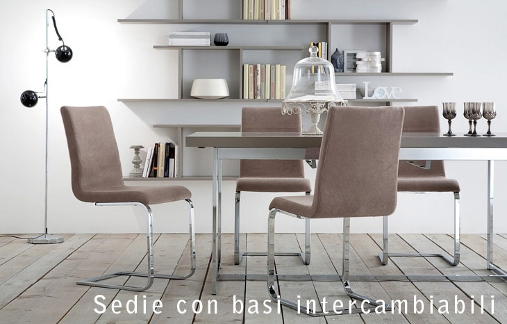 DOMITALIA- chairs with interchangeable bases