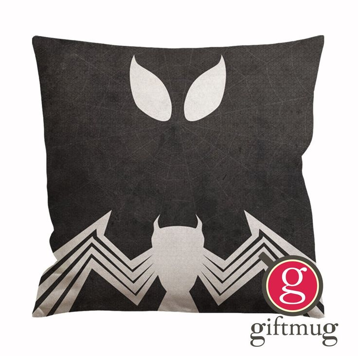 Black Spiderman Cushion Case / Pillow Case