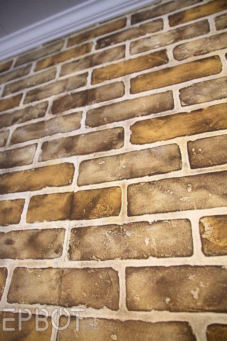 Brick Paneling Make Over Diy Faux Painting Tutorial
