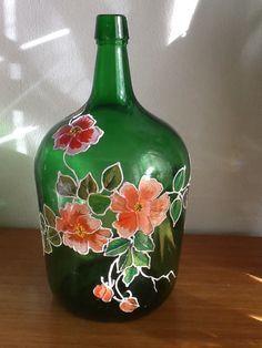 Resultado de imagem para pintando malmequeres em garrafão