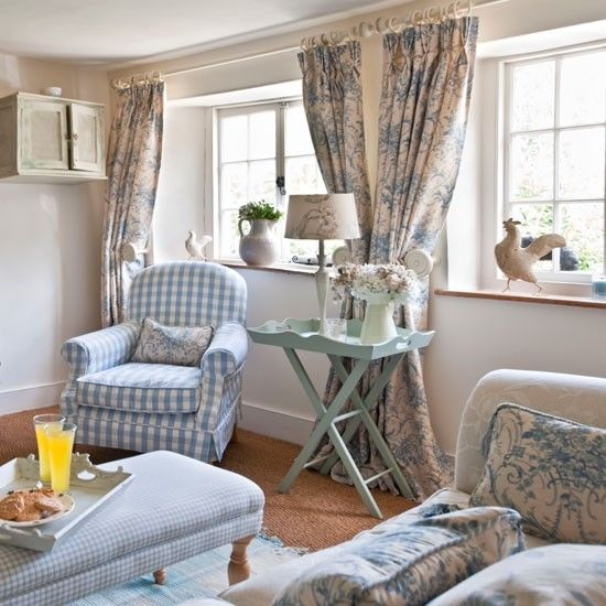 Pale blue living room | Living room | PHOTO GALLERY | Country Homes and Interiors | Housetohome.co.uk