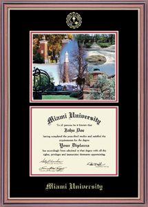 Campus Scene Williamsburg Diploma Frame By Church Hill Classics 10685884 | Miami University Bookstore