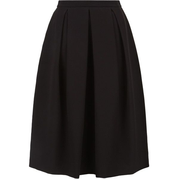 Monsoon Ginny Pleated Skirt found on Polyvore featuring skirts, bottoms, pleated skirt, knee length pleated skirt and box pleat skirt