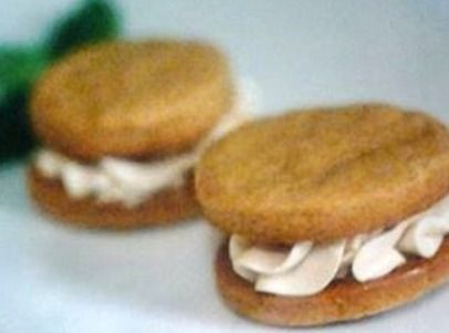 Spiced Sweet Potato Sandwich Cookies with caramel infused cream ...