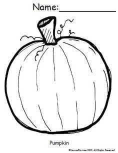 free pumpkin coloring sheet