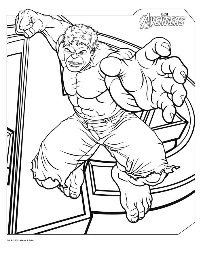 HULK - COloriage super héros avengers  http://www.papa-blogueur.com/coloriage-avengers-marvel-dessin-gratuit