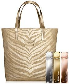 Receive a Complimentary Tote Bag with $100 Michael Kors Gold Fragrance and  Beauty Collection purchase | MICHAEL KORS LUV