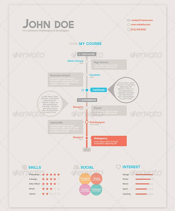 69 best creative resume designs images on pinterest