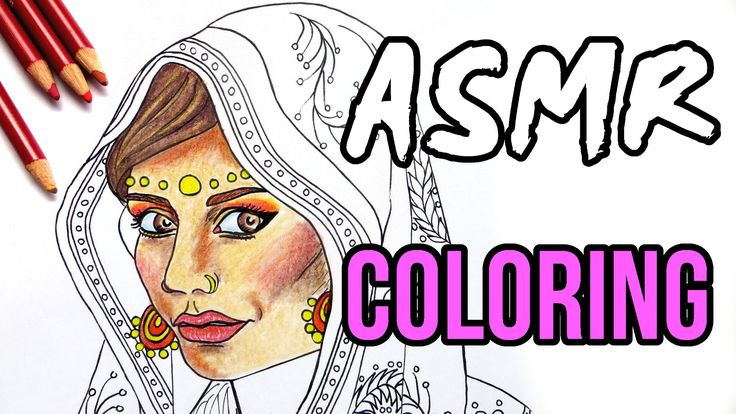 ASMR Coloring, No Talking || Color with Me in Real Time with Pastel Pencils. Wear headphones. This is my first ASMR art video: relaxing adult coloring with pastel pencils and soft pastels, pencil sharpening with a knife, taping down the coloring page and ripping tape off, opening and closing the art supply boxes, wiping the table clean of the pastel dust and finally ending with the soothing sound of the rain.