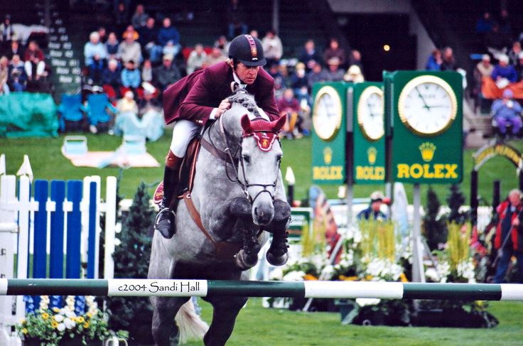 Show jumping. Nick Skelton and Russell cSandi Hall Henning